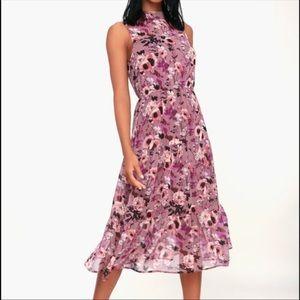 Lulu's floral maxi dress S